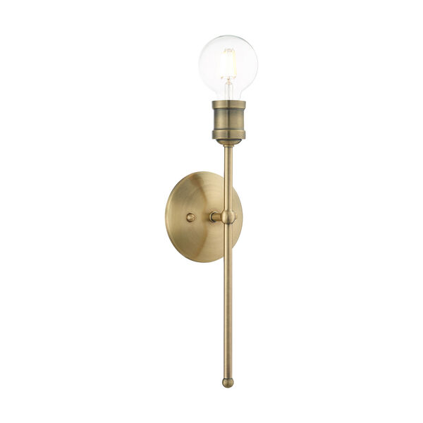 Lansdale Antique Brass One-Light  Wall Sconce, image 1