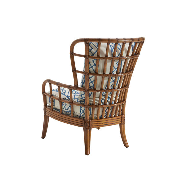Tommy Bahama Upholstery Brown, White and Blue Sunset Cove Chair, image 2