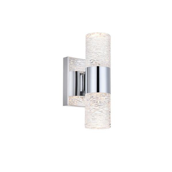 Vega Chrome Five-Inch Two-Light LED Wall Sconce, image 4
