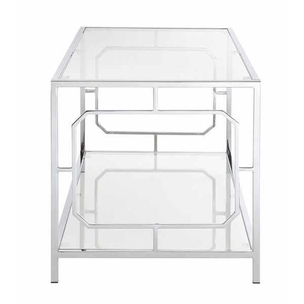 Omega Chrome Coffee Table with Clear Glass, image 4