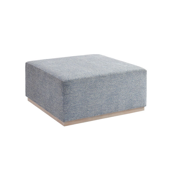 Upholstery Blue Clayton Cocktail Ottoman, image 1