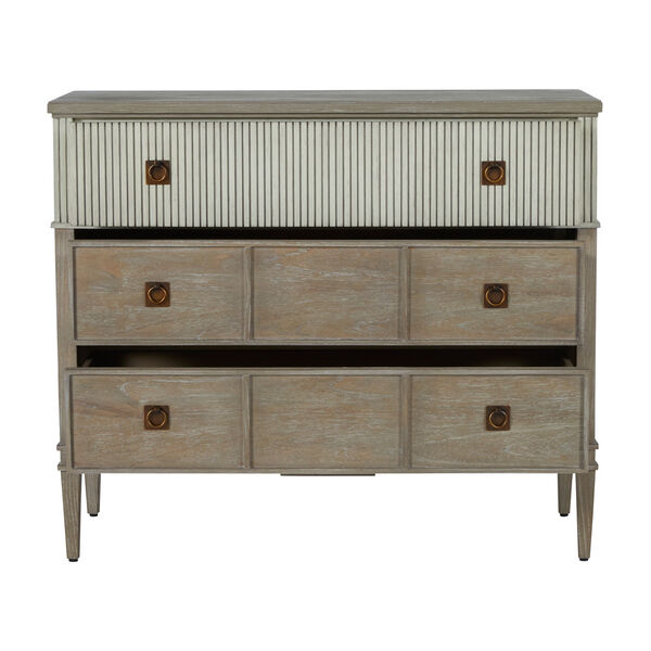 Winslet Sesame White and Cerused Gray Chest, image 4