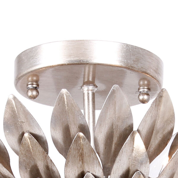 Broche Silver Four-Light Ceiling Mount, image 4