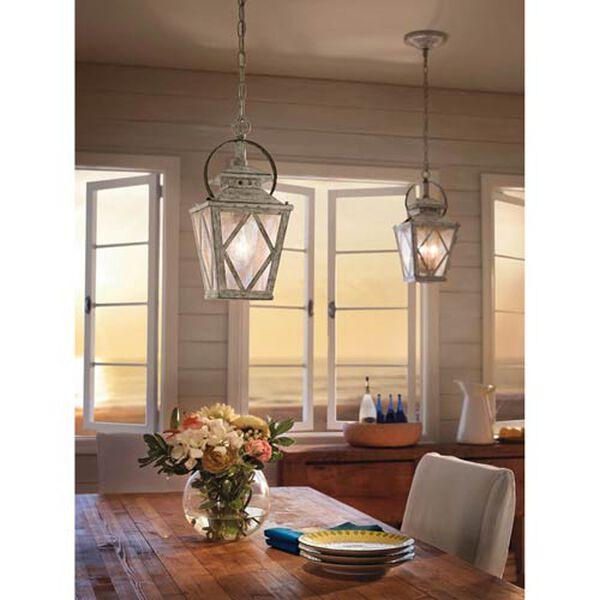Hayman Bay Two-Light Distressed Antique White Interior Lantern Pendant, image 4