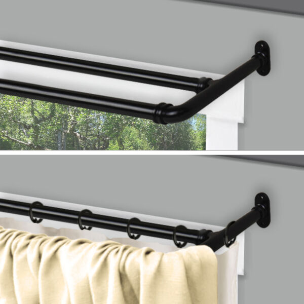 Blackout Black 84-120 Inch Double Curtain Rod, image 2