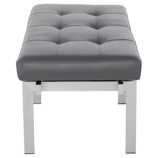 Louve Gray and Silver Bench, image 3