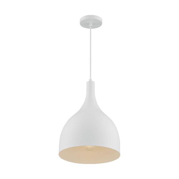 Bellcap Matte White 16-Inch One-Light Pendant, image 1