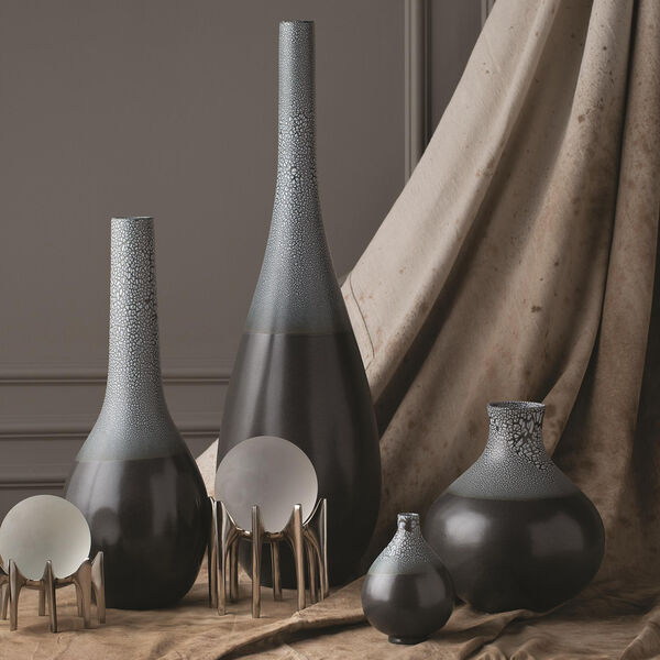 Studio A Eggshell Grey and Blue Large Vase, image 1