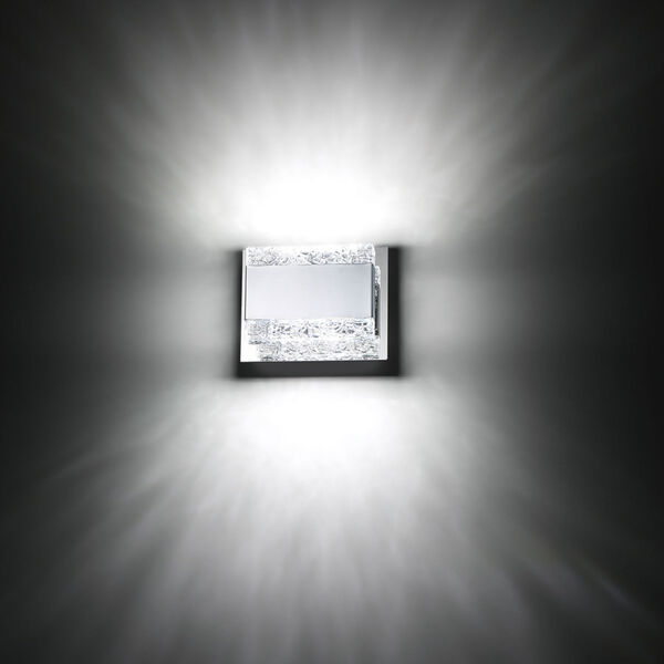 Nelson Chrome Two-Light LED Wall Sconce, image 3