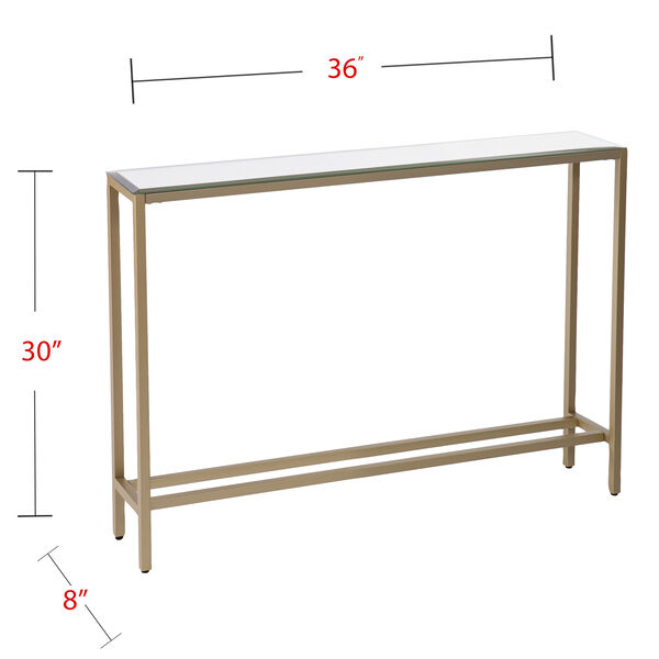 Darrin Metallic Gold 36-Inch Console Table, image 6