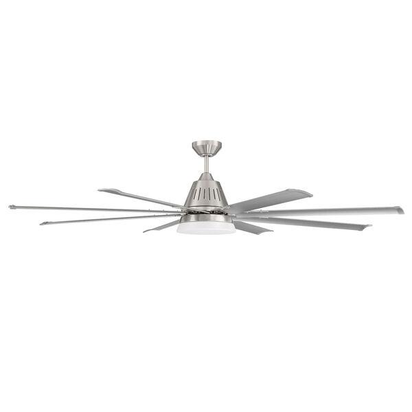 Wingtip Brushed Polished Nickel 72-Inch Ceiling Fan, image 1