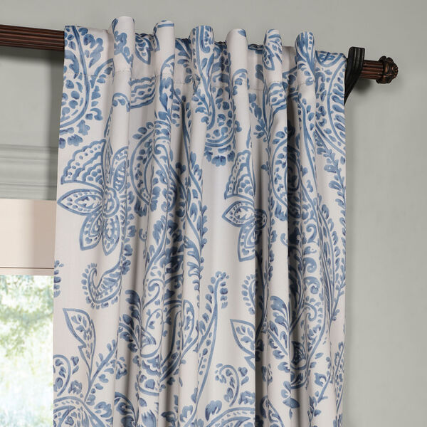 Tea Time China Blue 120 x 50-Inch Blackout Curtain, image 2