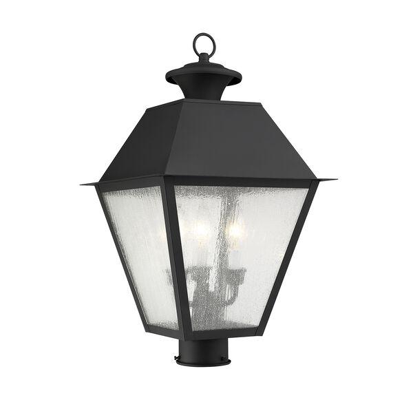 Mansfield Black Three-Light Outdoor Post Head, image 1
