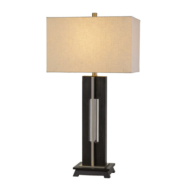 Glenview Black and White One-Light Table lamp, image 3