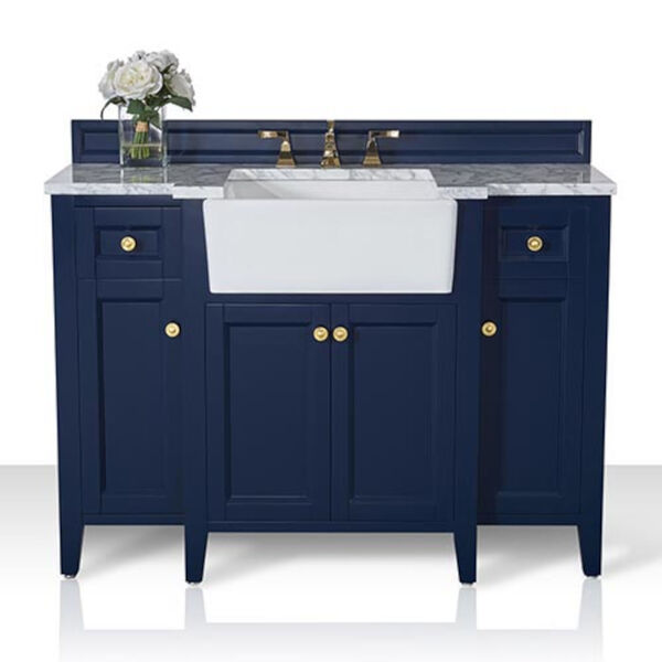 Adeline Heritage Blue 48-Inch Vanity Console with Farmhouse Sink, image 4