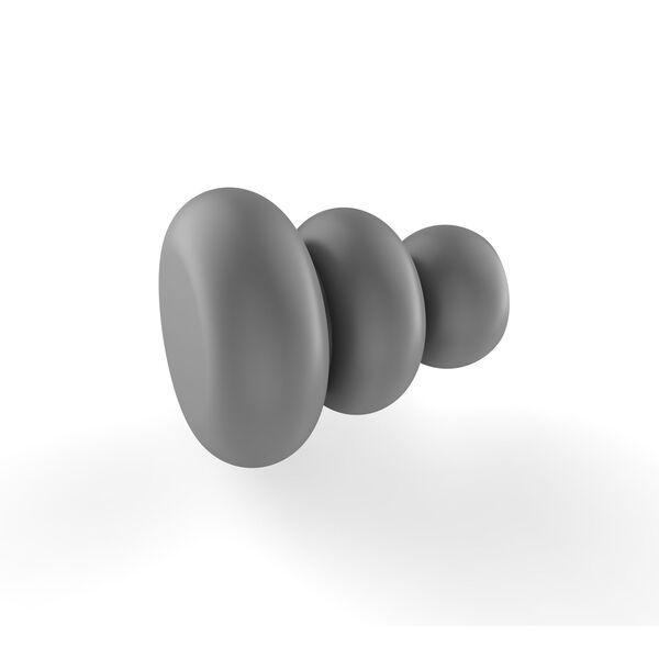 Matte Gray One-Inch Cabinet Knob, image 1