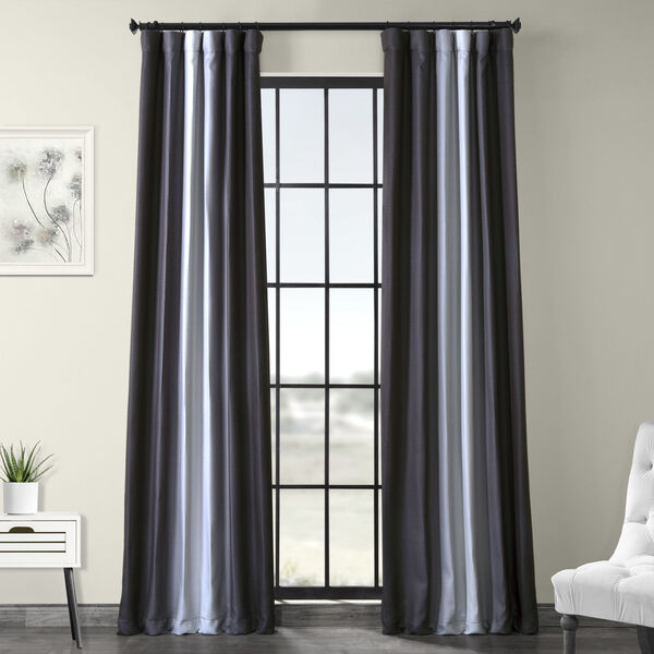 Grey 108 x 50-Inch Polyester Blackout Curtain Single Panel, image 1