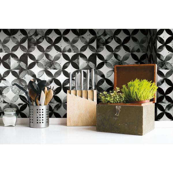 Paul Brent Moroccan Black Peel and Stick Wallpaper, image 4