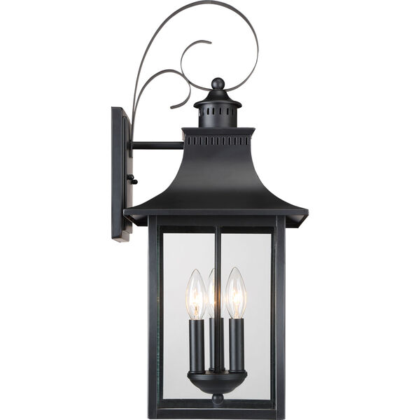Chancellor Mystic Black Three-Light Outdoor Wall Sconce, image 4