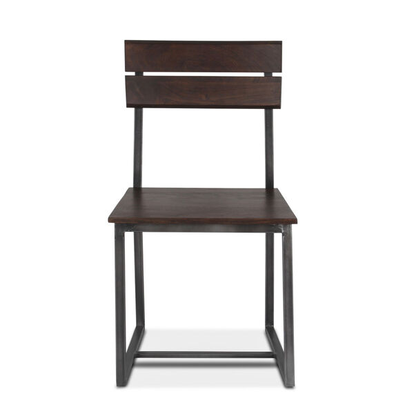 Augusta Dark Brown and Gray Dining Chair, Set of 2, image 1