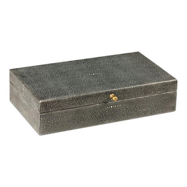 Black Gatsburg Shagreen Box, image 1