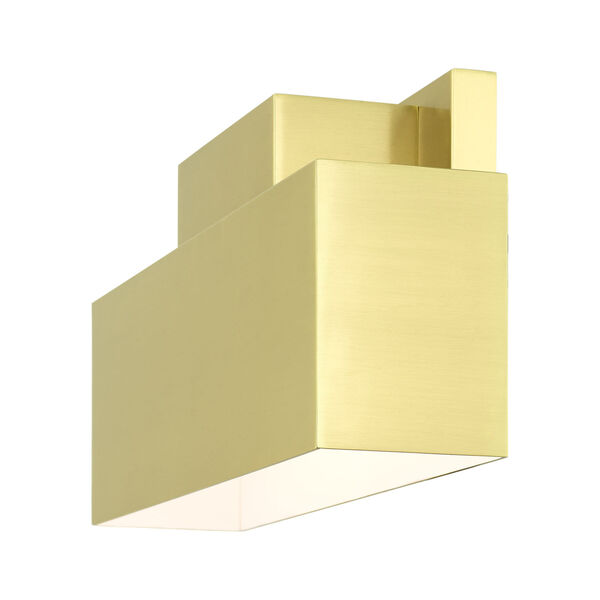 Lynx Satin Brass Two-Light Outdoor ADA Wall Sconce, image 6