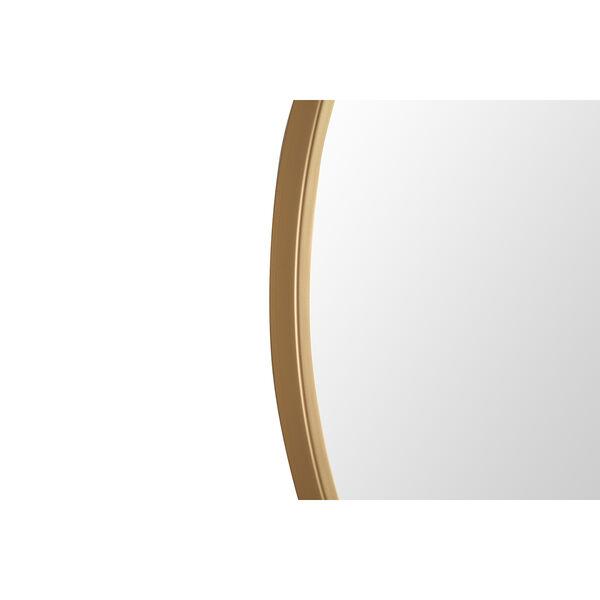 Eternity Brushed Brass Round 24-Inch Mirror, image 3