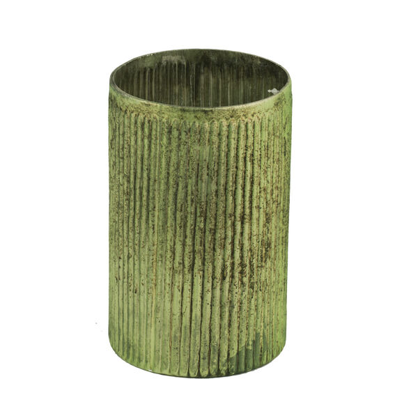 Papaya Green Eight-Inch Tall Vase, image 1