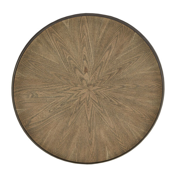 Cliff Gray Oak Round End Table, image 6
