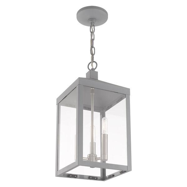 Nyack Nordic Gray Eight-Inch Three-Light Pendant Lantern, image 6