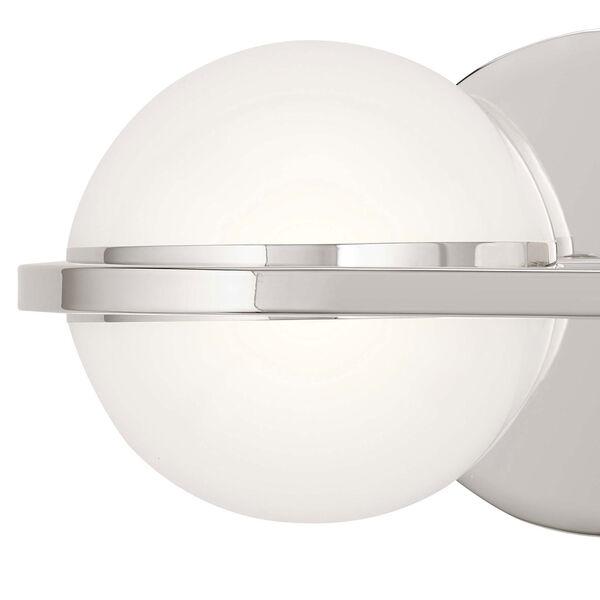 Brettin Polished Nickel 14-Inch Two-Light LED Bath Vanity, image 2