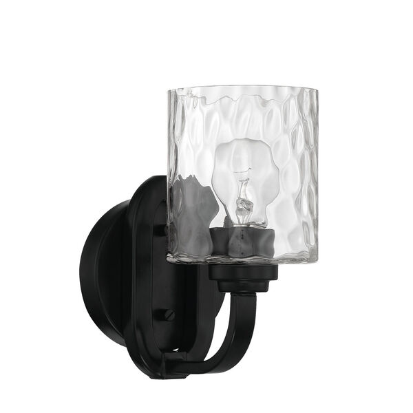 Collins Flat Black One-Light Wall Sconce, image 1