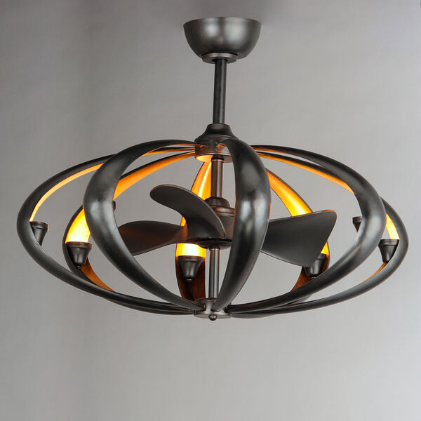 Ambience Bronze and Gold Eight-Light LED Fandelight, image 3