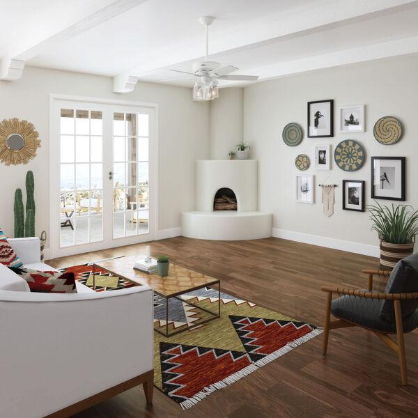 Bennett Matte White 44-Inch Three-Light LED Ceiling Fan, image 3