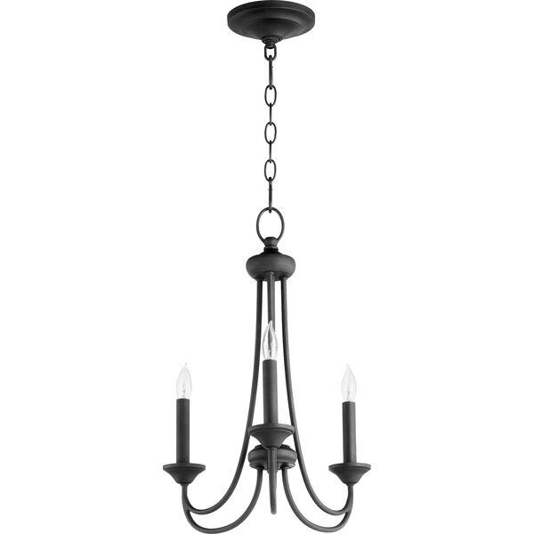 Brooks Black Three-Light Chandelier, image 1
