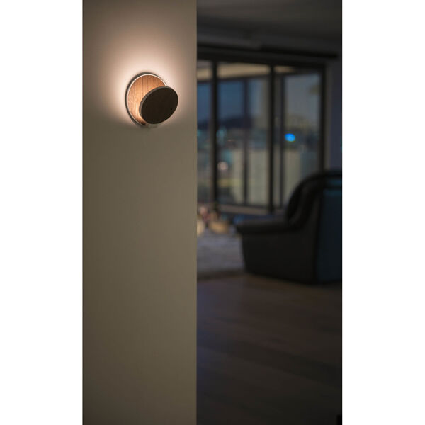 Gravy Silver Matte Yellow LED Plug-In Wall Sconce, image 5