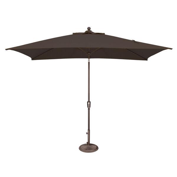 Catalina Black Rectangle Push Button Tilt Market Umbrella, image 1