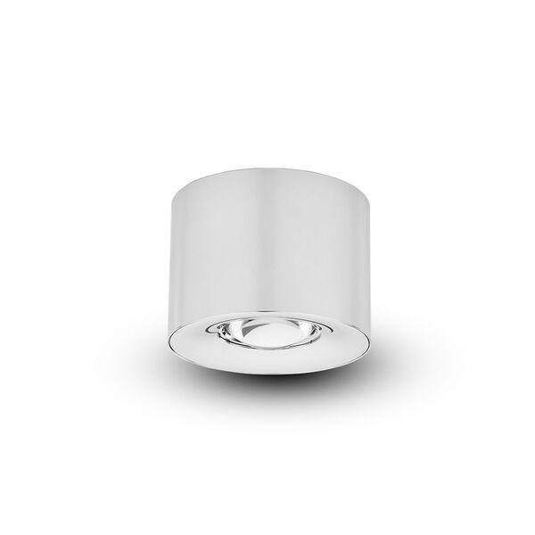 Node Polished Chrome 12W LED Flush Mounted Downlight, image 1