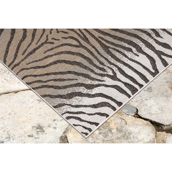 Carmel Sand Zebra Indoor/Outdoor Rug, image 4