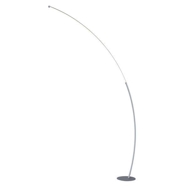 Monita Silver LED Arc Floor Lamp, image 1