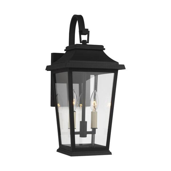 Warren Textured Black Two-Light Outdoor Wall Lantern, image 2