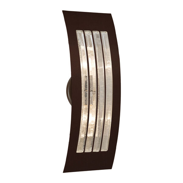 Sail Bronze Two-Light ADA Wall Sconce With Bubble Glass, image 1