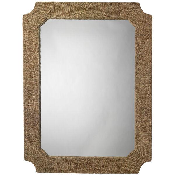 Marina Natural Seagrass 36 x 48 Inch Mirror, image 1