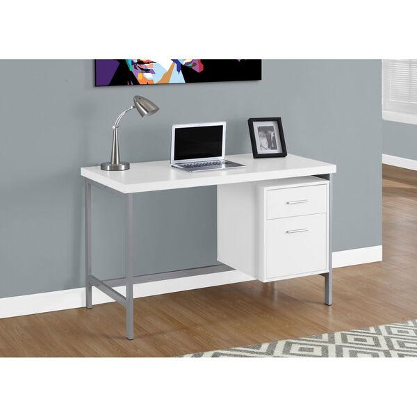 White 48-Inch Computer Desk, image 1