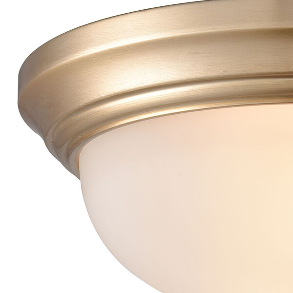 Huntington Satin Gold 11-Inch Two-Light Flush Mount, image 3