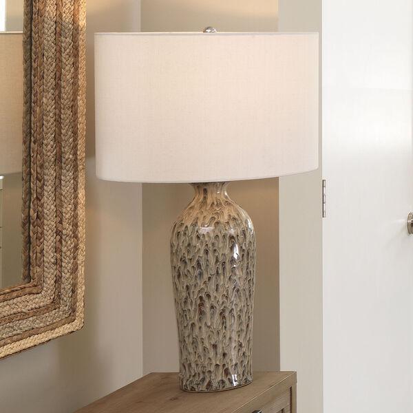 Nomad Brown Reactive Glaze Ceramic One-Light Table Lamp, image 3