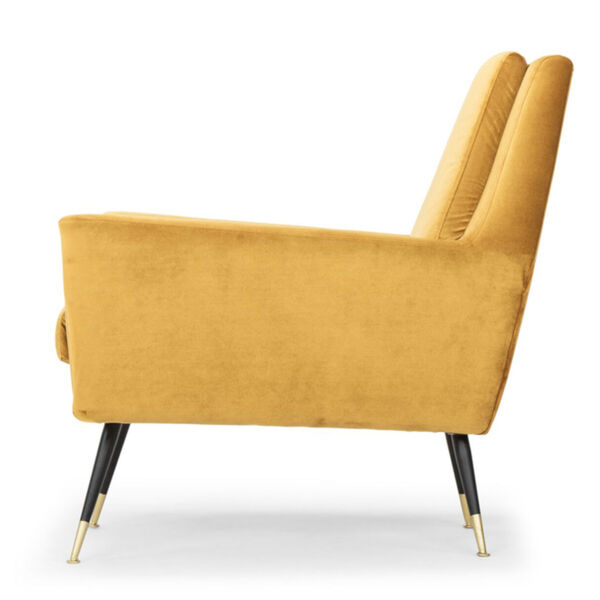 Vanessa Mustard and Black Occasional Chair, image 3