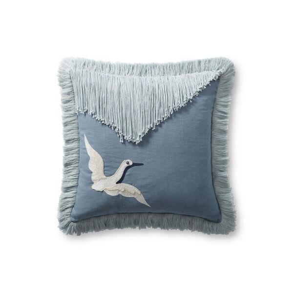 Justina Blakeney Blue 18 x 18-Inch Pillow, image 1