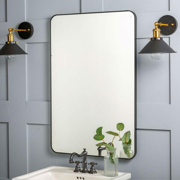 Franco Black Rectangular Mirror, image 1