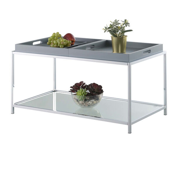 Palm Beach Gray Accent Coffee Table, image 2